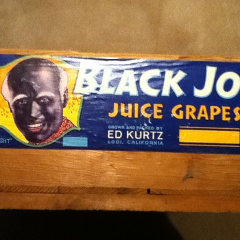 """Black Joe"" Crate - Advertising"