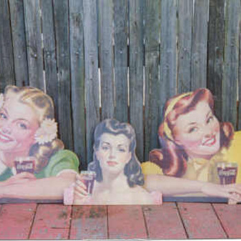old coke cardboard cut outs