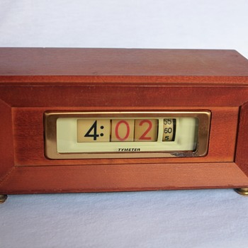 Pennwood Numechron Tymeter Model 851 Clock, 1971