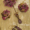Miriam Haskell Pin &amp; Earrings