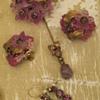 Miriam Haskell Pin & Earrings