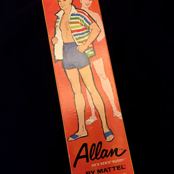 Allan doll box by Mattel, circa 1963 - Dolls