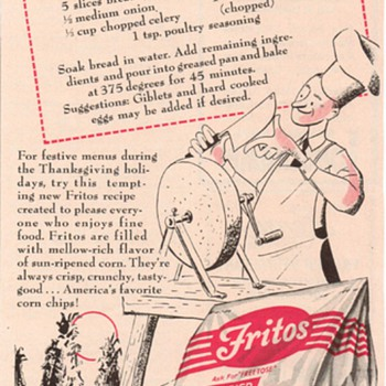 1950 Fritos Corn Chips Advertisement - Advertising