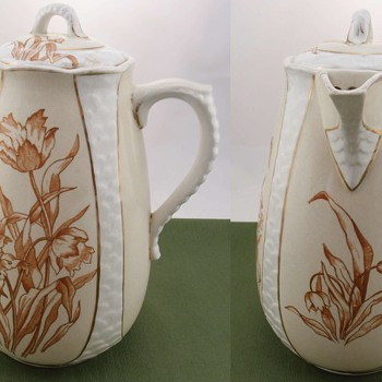 Ott & Brewer Chocolate Pot circa 1870 - 1890 - Pottery