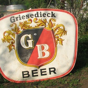 Porcelain Greasy Dieck Beer sign Large and heavy   - Signs