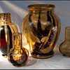 4 FABULOUS  HARRACH VASES