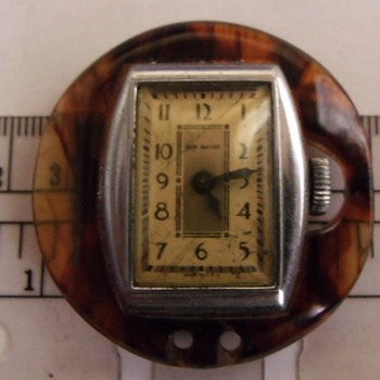 "Art Deco ""Bakelite"" Lapel Watch"