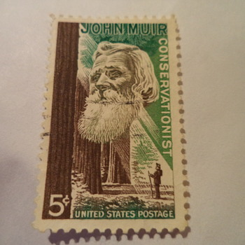 John Muir Conservationist 5cents US Stamp, 1964
