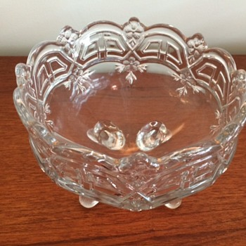 Previously a coloured glass fruit bowl