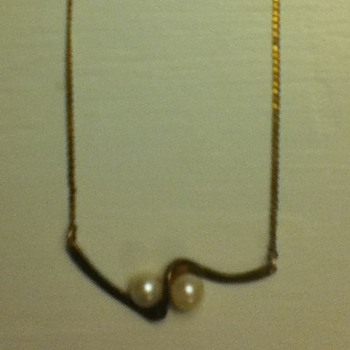 Sterling Silver & Gold Necklace