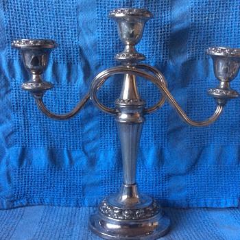 Antique silver candelabra  - Lamps