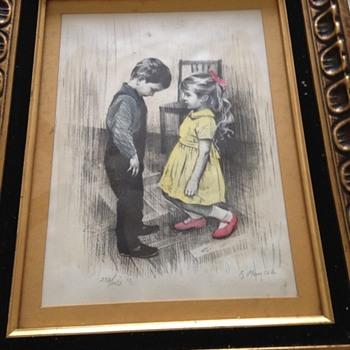 Pastel girl and boy artwork - Visual Art