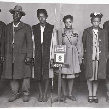 Mug Shots and Black Gangstas  (Maybe)  Original Mug Shot Photographs Collection Jim Linderman - Photographs