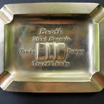 W.D.Beath Toronto c1930? Bronze Ashtray ,Truck fuel tank Mfr.