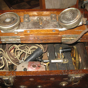 Stromberg Carlson Telephone, metal receiver in wood box, need more info! - Telephones