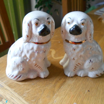 Antique China Dog Ornaments. - Animals