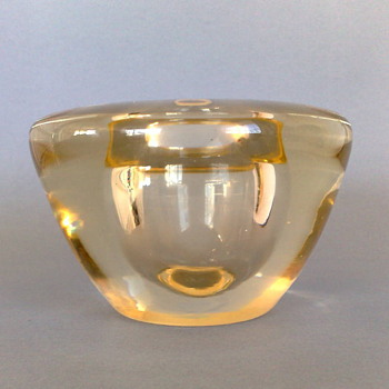 An Art Deco Optic Vase by A.D.Copier for Leerdam - Art Glass
