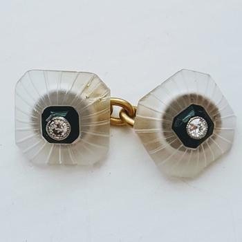 A single Art Deco cufflink, kyratised! - Fine Jewelry