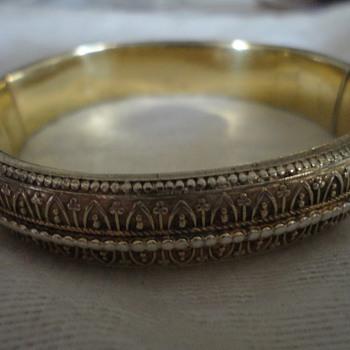 Art Nouveau silver gilt bracelet by Georg Adam Scheid, Vienna c. 1900 - Fine Jewelry