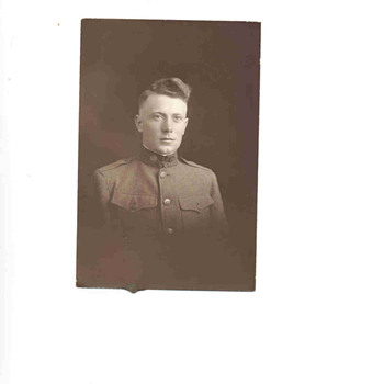 My Uncle Andy in his uniform cira WW I - Photographs