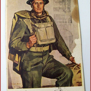 "An Old Postcard entitled - ""  Canadian Soldier "" - Postcards"