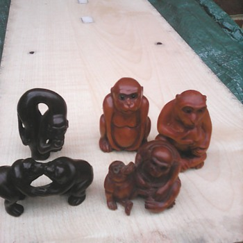 My netsuke monkeys