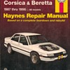 Haynes Repair Manual - Chevy Corsica & Beretta