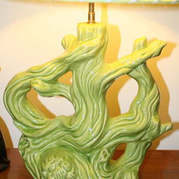 Green ceramic lamp - Lamps