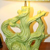 Green ceramic lamp