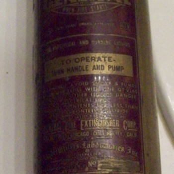 vintage fire extinguisher  - Firefighting