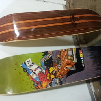 old skateboard decks