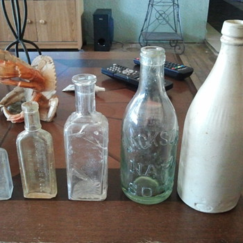 bottles from old house dig - Bottles