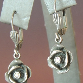 Hanging Flower Earrings - Sterling & CZ?
