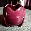 "Nelson-McCoy Magenta Tulip Shaped 4"" Ball Planter / Circa 1940"