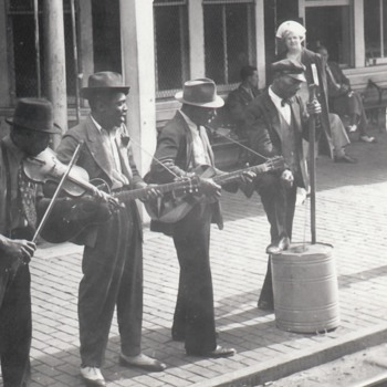 African-American Blues Musicians Jug Band Street Performers Collection Jim Linderman