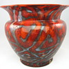 Loetz Red Zickzackoptisch vase
