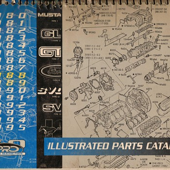 1980-1995 Ford Mustang Parts Catalog - Books