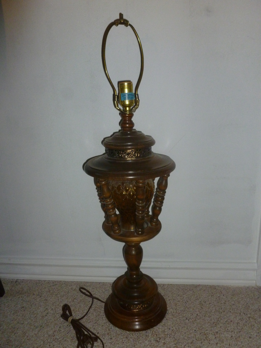 Wooden cage type lamp collectors weekly Types of table lamps