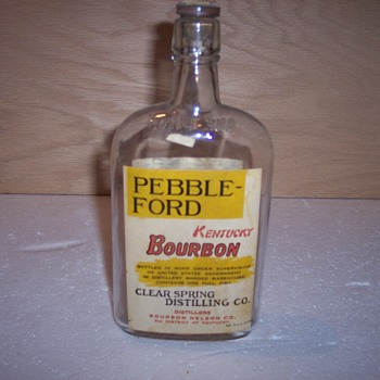 Pebble-Ford Kentucky Bourbon Bottle  - Bottles