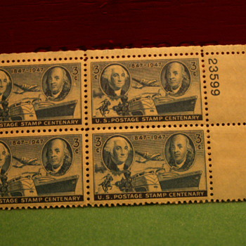 1947 U.S. Postage Stamp Centenary 3¢ Stamps - Stamps