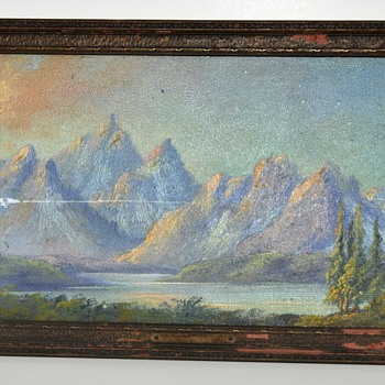 Antique Mystery Painting with UFO in scene?  (Not Joking) - Visual Art