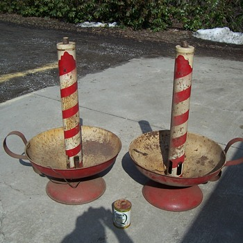 vintage outdoor Christmas candles