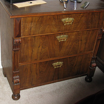 Victorian Three Drawer Chest - Furniture
