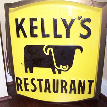 Unique Lighted Restaurant Sign