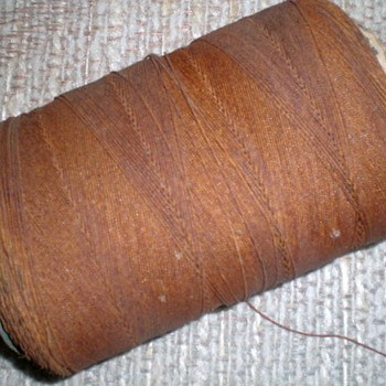 OLD SPOOL OF TWINE, CORD, STRING? - Rugs and Textiles