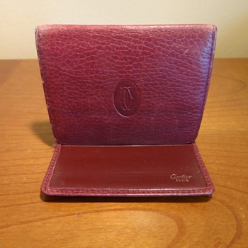 AUTHENTIC VINTAGE LEATHER CARTIER WALLET - Accessories