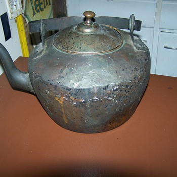 Vintage  Antique 1820's Copper Tea  Kettle JC Reed Maysville