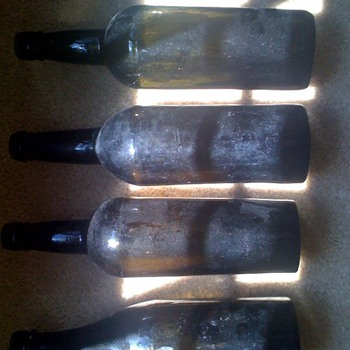 Late 1800's glass bottles