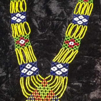 Ceremonial Native American Beaded Necklace - Native American