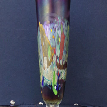 Art-Glass Vase, Thrift-Store - Art Glass